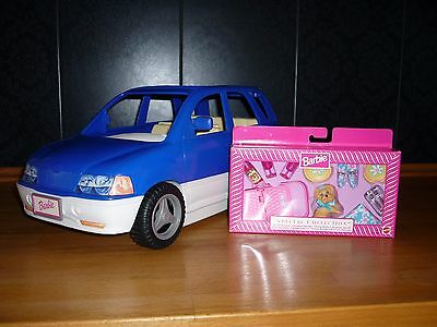 Mattel Barbie Auto blau - Pop-Out Picknick SUV mit Extra-Zubehör (OVP)/blue car