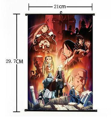 Hot Japan Anime Cosplay Fullmetal Alchemist Wall Scroll Art Poster Home Decor 02