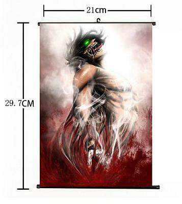 HOT Japan Anime Attack on Titan Survey Mikasa Home Decor Poster Wall Scroll 05
