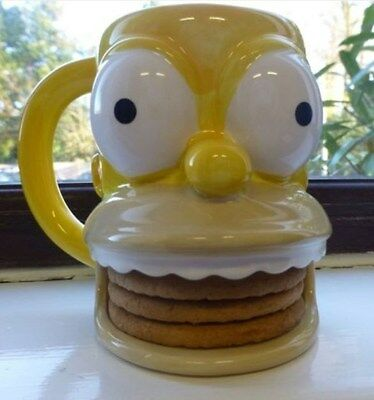 Homer Simpson Mug Cup With Digestive Biscuit Holder by Matt Groening 2005