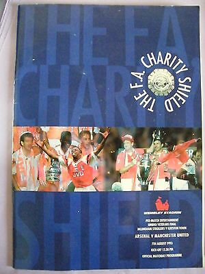 1993 Charity Shield Arsenal V Manchester United