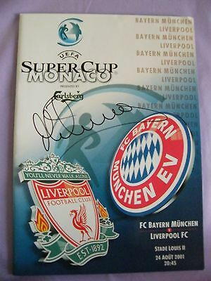2001 Super Cup Final Fc Bayern Munchen V Liverpool Signed By Michael Owen