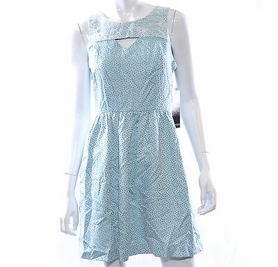 Kensie Sleeveless Brocade Dress Teal Combo Size S MRSP $119