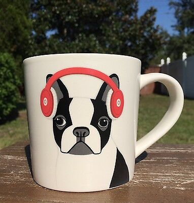 NEW COOL HIPSTER FRENCHIE headphones MUG French Bulldog Cup Valentines Day Gift
