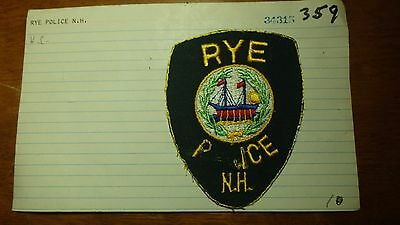 Rye New Hampshire   Police Department Salesman Copy Obsolete Patch Bxsp#359