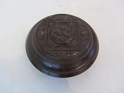Vintage Bakelite Powder Bowl / Trinket Box With Art Nouveau Style Design