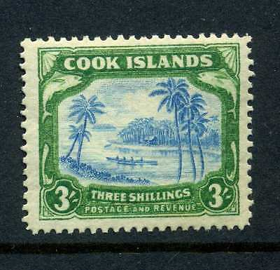 Cook Islands 1938 3 shillings wmk w43 SG 129 MLH