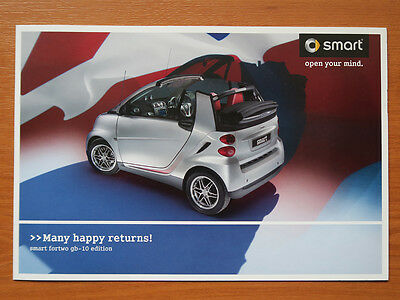 Smart ForTwo GB-10 edition sales brochure