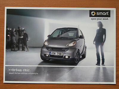 Smart ForTwo edition Urbanstyle sales brochure