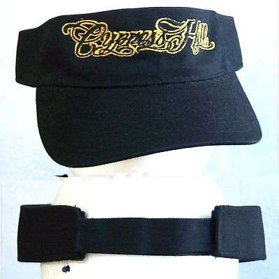 Cypress Hill! Embroidered Gold Logo Blk Visor Hat New