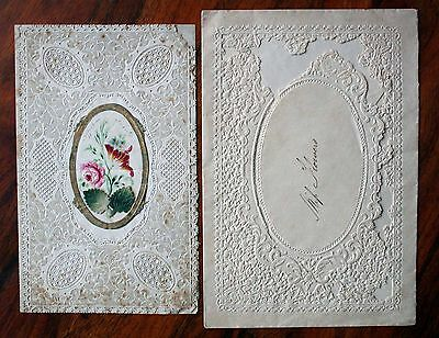 Victorian Pierced Lace Paper Valentine Card Kershaw + Envelope Opens Flowers