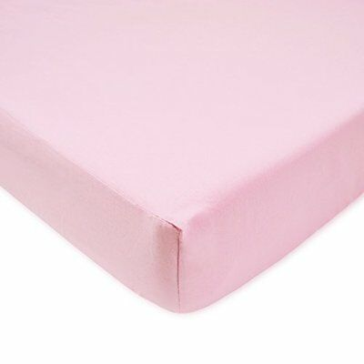 American Baby Company 100% Cotton Percale Fitted Crib Sheet Pink Soft Machine Ne