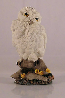 Franklin Mint World Of Owls Snowy Owl Eule Figur #4