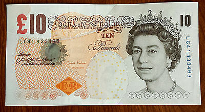 ***Fantastic UK British English Mint Circulated 10 Pounds Banknote***