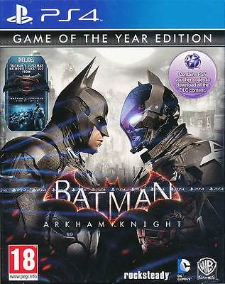 Batman Arkham Knight Game of the Year Edition PS4 Game Brand New Sealed PAL