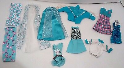 Barbie Doll Clothing Princess Frozen Skirt Blue Jacket Tops Outfits Lot of 10