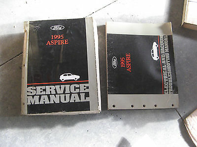 ford aspire electrical wiring diagrams service shop manual 1995 ford aspire service shop repair manual electrical vacuum wiring diagrams