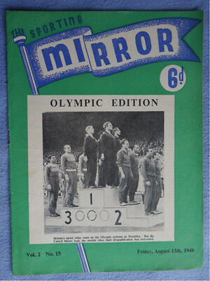 Sporting Mirror Vol 2. No 15. Olympic Edition - results & action. Northants cric