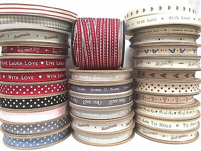 Craft Large Selection East of India Ribbon Gift Wrapping 1 3 5 or 10 Metres