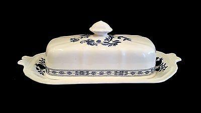 Staffordshire Kensington Ironstone Butter Dish - Excellent Condition!