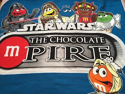M&M Star Wars The Chocolate Mpire Fleece Throw Blanket Quilting Sewing Material