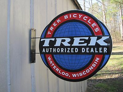 Trek Bicycles Authorized Dealer Waterloo Wisconsin Double Sided Metal Sign A5980