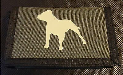 Wallet Staffordshire Bull Terrier Staffy on Olive coloured Wallet slight second