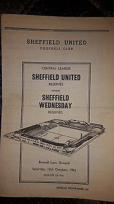 Sheffield United v Sheffield Wednesday Central League 1962-63