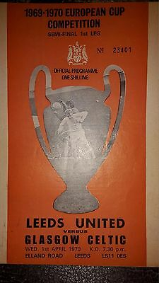Leeds United v Glasgow Celtic European Cup semi-final 1969-70