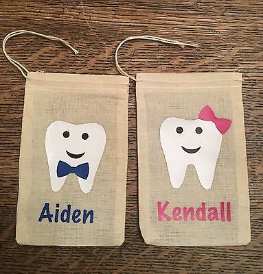 Tooth Fairy Bag/ Personalized Tooth Pouch