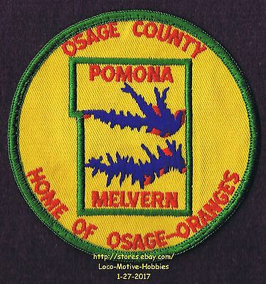 LMH Patch Badge  LAKE POMONA Reservoir MELVERN Fishing OSAGE Oranges Home County