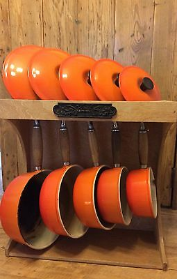 Le Creuset Sauce Pans Set With Stand