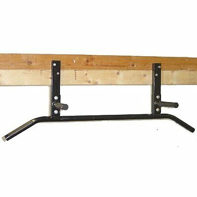 Joist Mounted Pull Up Bar With Neutral Knurled Grip Handles By Ms Sports