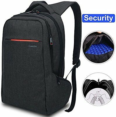 """Shockproof Backpack - Fits 15"""" Laptop W/ Anti-Theft Dual Zipper For Safety"""