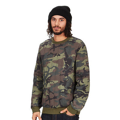 Stüssy - Quilted Crewneck Sweater Camo Pullover Rundhals