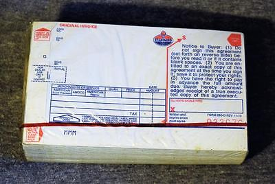 NOS Pack of 125 Standard Oil Gasoline Credit Card Invoice Receipts New Sealed
