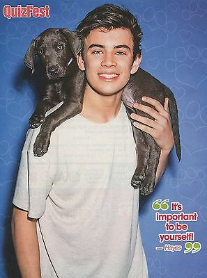 HAYES GRIER - 2016 - QUIZ FEST magazine CLIPPING - PINUP - MINI POSTER