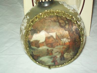 10-31 Masters on Silk Winter Govaerts Christmas by Krebs Ornament