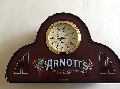 Arnott's Biscuit Tin With Clock (Collectable)
