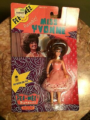 PEE WEE's PLAYHOUSE MISS YVONNE HERMAN 1988 MAtchbox peach blister doll new box