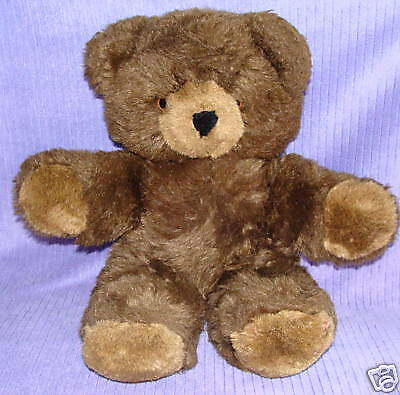 Ganz Vintage 1985 Two Toned Chocolate Brown Bear 17""
