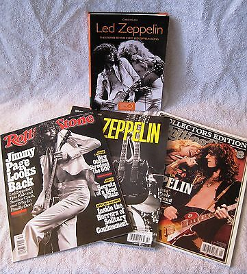 Lot Of Led Zeppelin Literature - 3X Collector's Magazines + Stories Behind Songs