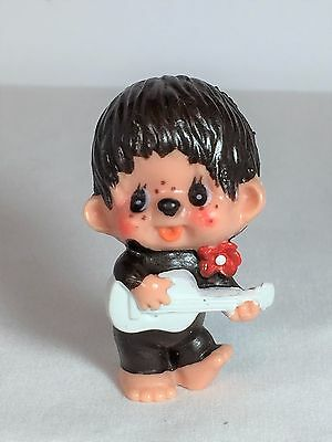 Monchhichi PVC Mini Figure - GUITAR PLAYER - Vintage Monchichi Sekiguchi