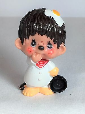 Monchhichi PVC Mini Figure - CHIEF COOKING - Vintage Monchichi Sekiguchi
