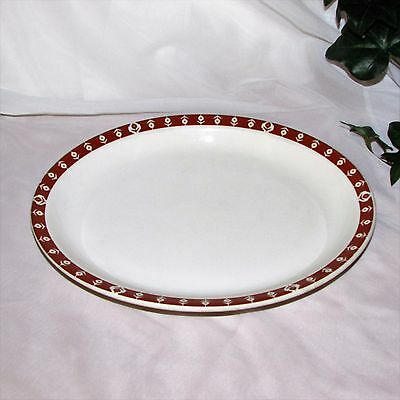 "Vintage Syracuse China Oval Serving Platter 11"" 1973 Canada Restaurant Ware"