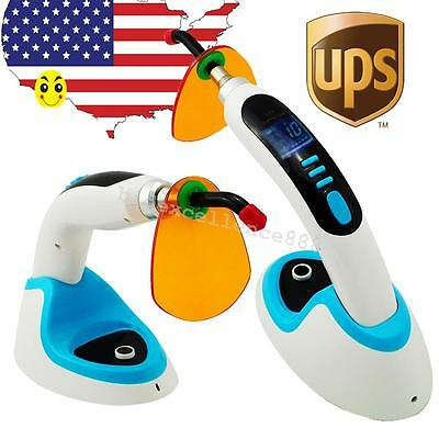 USA 10W Wireless LED Dental Curing Light Lamp 2000MW + Teeth Whitening Noiseless