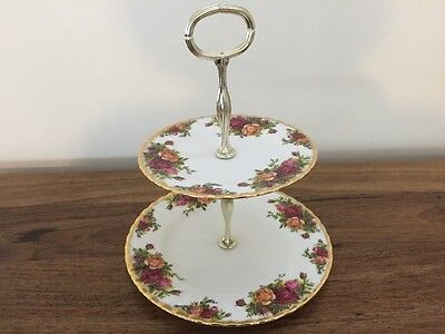 Royal Albert Old Country Roses Two Tier Cake Plate