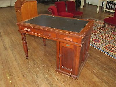Antique Wooton Office Rotary  Desk American Victorian w Original Wooton's Label