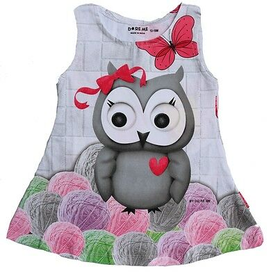 Baby Girls Frock Dress Top Size 0000 ~ 8 VERY Cute OWL Print - Cotton/Lycra®