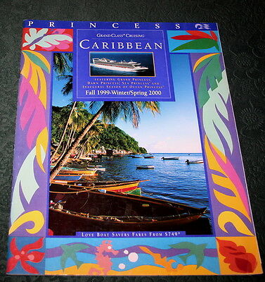 Booklet PRINCESS CRUISE CARIBBEAN 1999 Brochure Timetable Tariffs Ship Deck Plan